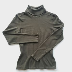 LOLE Olive Green Turtleneck Sweater. Size M